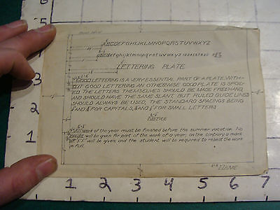 """vintage LETTERING PLATE example for 14 x 10"""" paper, as shown"""