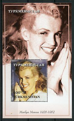 Turkmenistan 1997 MNH Marilyn Monroe 1v S/S Celebrities Movie Stars Stamps