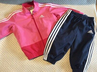 Baby girls adidas tracksuit 6/9 months
