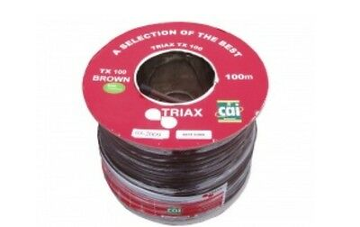 100m Triax 'Foam' TX100 Coaxial Cable Brown 100m