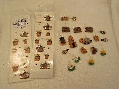 "Longaberger Village Press Stickers , Pin, & Ornaments  ""Bee"""