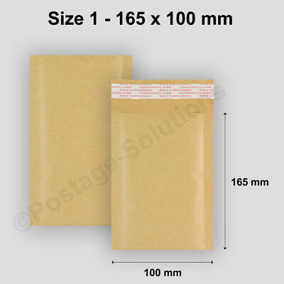 200 165 x 100mm A000 Size 1 Bubble Envelopes Mailer Padded Bags Cheapest