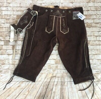Oktoberfest lederhosen 4U Brown German costumes outfits Bundhosen HANS 42