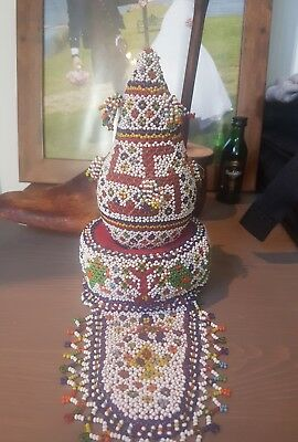 Antique Native American Navajo Whirling Log Beaded Ceremonial/ Possibly Hindu