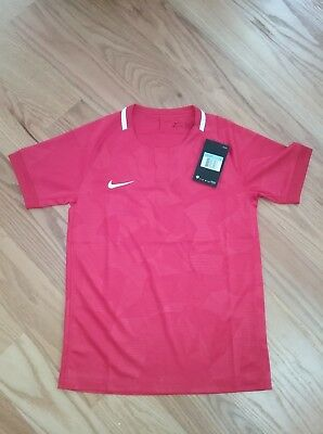 NWT RED Nike Dri-Fit Soccer Jersey with Pattern Youth Unisex Size Medium