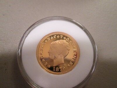 Fantasy Coin 1879 Gold Plated Four Stella Copy  X2