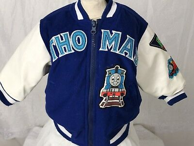 VTG Thomas The Train Boy 12 Mo Coat Blue And White