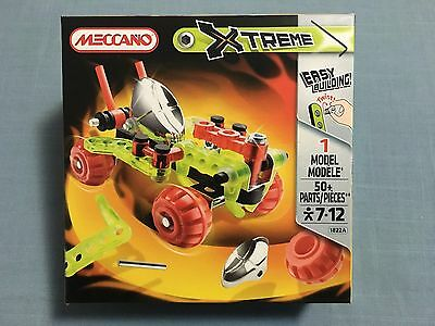 Meccano Xtreme 1822A 1 Model 50 Pieces New Sealed