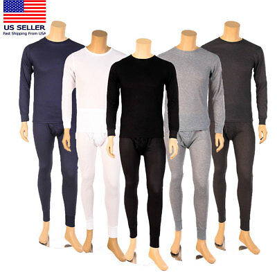 Knocker Men 2PC Thermal Underwear Set Top Bottom Long John Waffle Johns Pants
