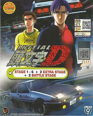 Anime Initial D Stage 1 - 6 +2 Battle Stage + 2 Extra Stage DVD Box Set
