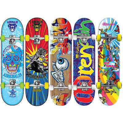 New 2018 Adrenalin Halfpipe Kids Skateboard 31 X 8 Inch - Abec 5 Bearings