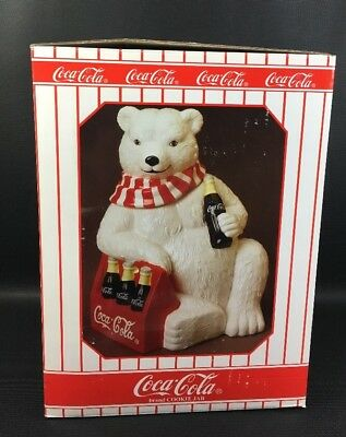 Cavanagh 1998 Limited Edition Coca Cola Bear Six Pack Cookie Jar MIB #J424.