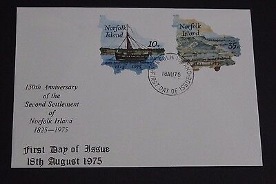 Norfolk Island 1975 Ann Of Second Settlement  Set Of 2 On First Day Cover