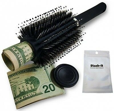Hair Brush Diversion Safe Stash With Smell Proof Bag By Stash-it Can Safe NEW