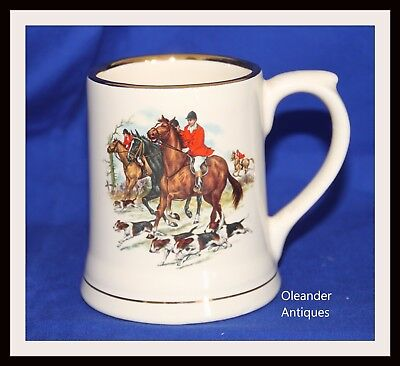 Wade Pottery Hunting Mug with Horse and hounds