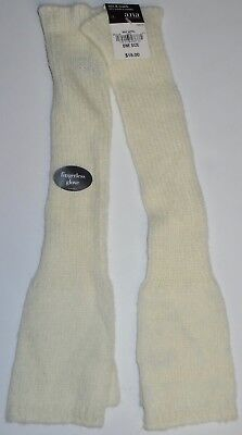 Nwt A.n.a. Women's Long Ivory White Fingerless Gloves ~ One Size