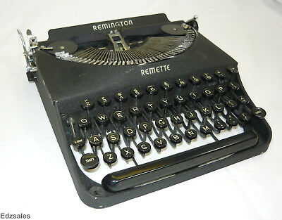 Vintage Remington Rand Remette Compact Portable Black Manual Typewriter
