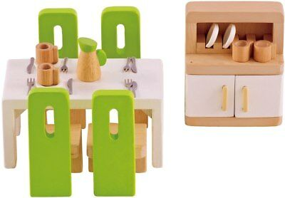 New Hape All Seasons Doll Furniture - Dining Room Childrens Toy