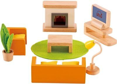 New Hape All Seasons Doll Furniture - Family Media Room Childrens Toy