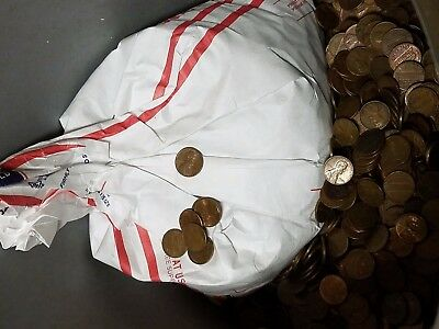 Bag of 3,000 Circulated 95% Copper Pennies. 20LBS Bulk Bullion. Wheats & Keepers
