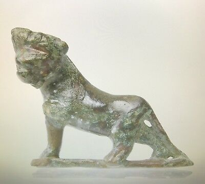 Ancient Roman Bronze Figure Of A Leopard C. 2nd - 3rd Century A.D.