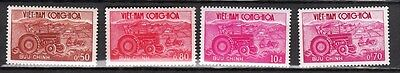 1961 Vietnam Stamps - Agriculture - Tractor and Plow - SC#150-153 - MNH set of 4