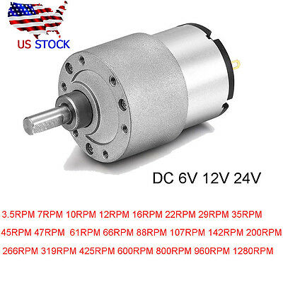 DC 24V/12V/6V Shaft Electric Gear Box Motor Speed  Centric Reduction Controller
