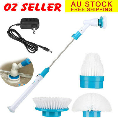 Super Scrubber Rechargeable Cordless Extendable Cleaning Brush Spinning Cleaner