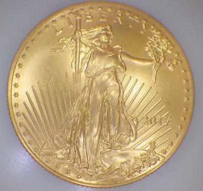 2017 Gold Eagle Half 1/2 Troy Ounce 25 Dollar Gold Piece Coin Almost Uncirc.