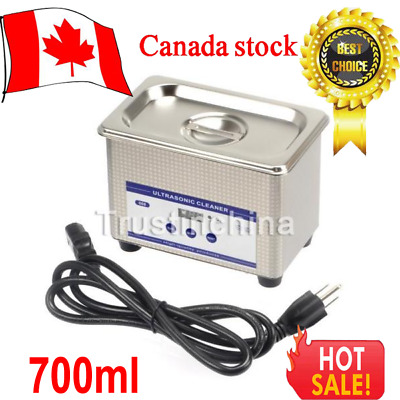700ml Ultrasonic Cleaner Ring Bath Digital Timer Industrial Cleaning Equipment t