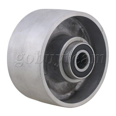 Silver Aluminum 125mm Dia Belt Grinder Tracking Wheel for Belt Sander