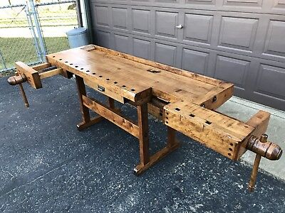 Antique Maple Woodworkers Bench Restored Shipping Available