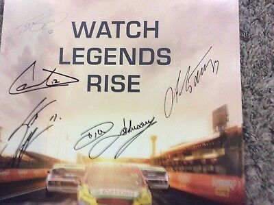 Team Penske/DJR signed Bathurst poster all drivers incl Johnson