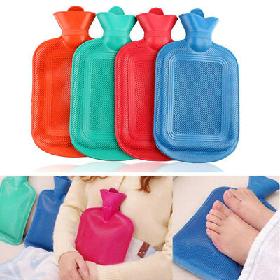 HOT THICK Rubber WATER BOTTLE BAG WARM Relaxing Heat Cold Therapy~
