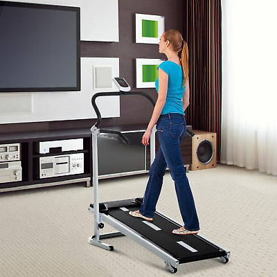 HOMCOM Folding Walking Treadmill Home Gym Cardio Fitness Workout LCD 3 Incline