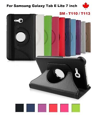 """For Samsung Galaxy Tab E LITE 7"""" SM-T110 T113  ,360 ° Leather Stand Case Cover"""