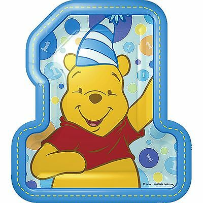 Set Of 12 Personalised Blue Winnie The Pooh 1St Birthday 14X8 Size Lolly Bags