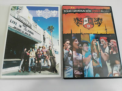 Rbd Rebelde Job Lot Lote 2 Dvd Tour Generacion Rbd En Vivo + Live In Hollywood &