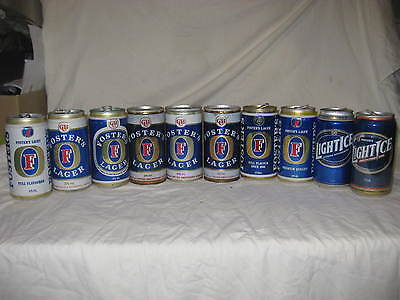 Foster's beer cans