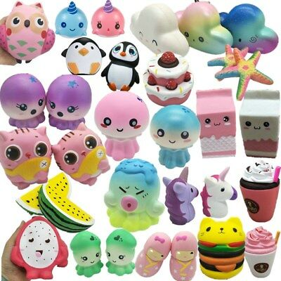 Jumbo Slow Rising Squishies Scented Charms Kawaii Squishy Squeeze Toy Kids Xmas