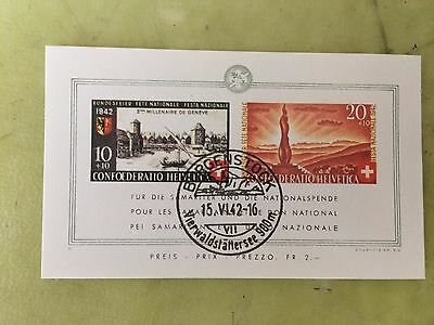 stamp svizzera 1942 Pro Patria - The 2000th Anniversary of Geneva