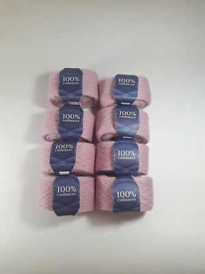SET 8 * (50g 650m) Pink Mongolian Pure 100% Cashmere Yarn Skeins