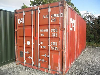 """20FT x 8FT x 8FT 6"""" USED STEEL SHIPPING CONTAINERS - NATIONWIDE ***£1195+VAT***"""
