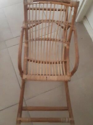 Vintage CANE CHILDS ROCKING CHAIR for Doll or Teddy Bear