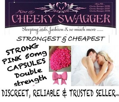 >25x Strong Sleeping Pills Aid Tablets 50mg Pink Capsules 🎀CHEAPEST BY FAR,!!