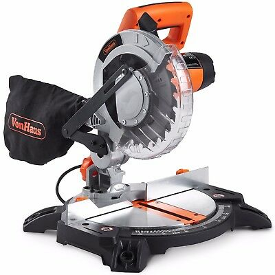 VonHaus 1400W Mitre Saw 210mm Blade With 15°, 22.5°, 30° and 45° Key Bevel Angle