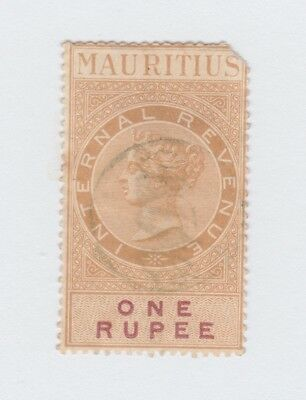 Stamp - Mauritius - 1878 - Victoria - Internal Revenue - 1 Rupee