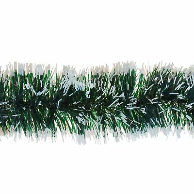 2m Snow Tipped Green Tinsel Garland 6ply Christmas Tree Home Festive Decoration