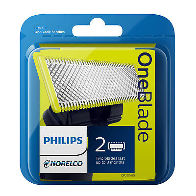 Original Philips OneBlade QP220/50 Replaceable Blades Pack of 2 (OB22050)