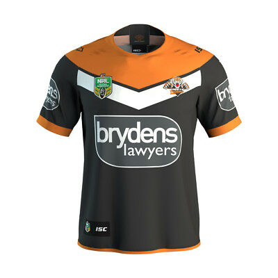 Wests Tigers 2018 NRL Adults Mens Home Jersey  BNWT Rugby League